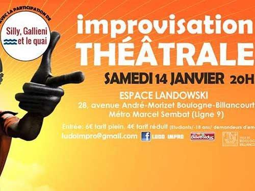 Match d 39 improvisation th trale espace landowsky - Metro marcel sembat boulogne ...